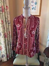 ANTHROPOLOGIE TINY Devas Popover Top Sequin Shirt SZ S