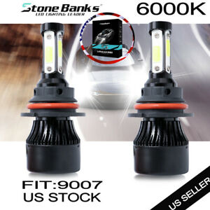 9007 HB5 LED Headlight Bulbs Conversion Kit High Low Dual Beam 6000K Super White