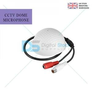 Round Dome Microphone Mic Audio Pickup Device for Security Camera CCTV