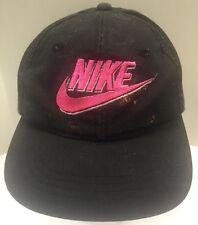 Nike 80s 90s Snapback Hat Cap Black Neon Pink Supreme Skater Hip Hop Hypebeast