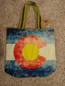Colorado Flag Large Tote Bag