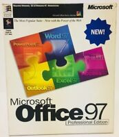 Microsoft Office 97 Professional Edition Big Box Windows Word Excel Access Basic