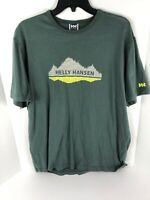Helly Hansen Mens T Shirt Green XXL 2XL EUC Graphic T Shirt