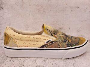Vans Van Gogh Museum Amsterdam Slip On Shoes Skull Painting Mens 7 Womens 8.5