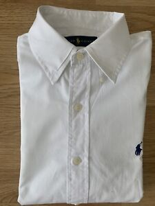 Ralph Lauren Herrenhemd Weiß Markenhemd Medium