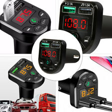 Car FM Transmitter Audio Adapter Charger Car Kit with Hands-Free Calls