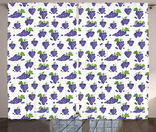 Grapes Curtains Fruit Sweet Design Window Drapes 2 Panel Set 108x90 Inches
