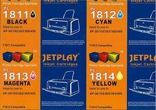4 Jetplay/Inkrite 1811-1814 18XL Ink Cartridges Compatible 4 Epson XP-415 XP-422