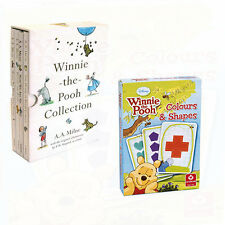 Winnie The Pooh Collection 4 Books Set Colours and Shapes Cards Paperback