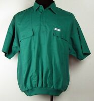 VTG Members Only Teal Blue Awesome '80s Short Sleeve Banded Hem Polo Shirt L