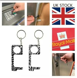 Door Opener Hand Hygiene Antimicrobial EDC  Key Chain Non Touch Contactless