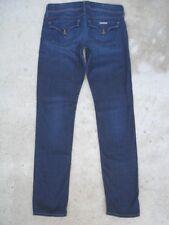 Hudson Womens Collin Flap Skinny Jeans Sz 28 Dark Distressed Wash