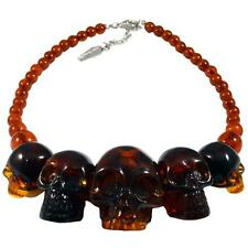 Kreepsville 666 Skull Collection Necklace Amber Horror Punk halloween *