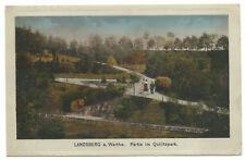 Landsberg a. Warthe Partie im Quilitzpark 1920