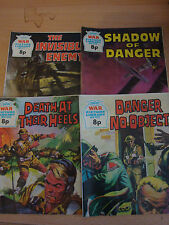 4 OLD VINTAGE WAR PICTURE LIBRARY STORIES BOOKS MAGAZINES COMICS 1101 - 1117