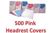 "500 Headrest Covers Disposable Dental Tattoo Pink Tissue Poly Winner PK11 10""X10"