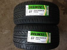 NEW set of (4) 235 35 19(x2) & 265 30 19(x2) Delinte Thunder D7 series tires