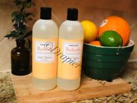 LOT OF 2: Trader Joe's Refresh Citrus Body Wash with Vitamin C 16 Ounce New