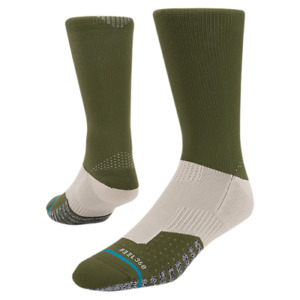 Stance Men Green Pink Crew Nylon Ventron FL Feel 360 Performance Socks L 9-12 SJ