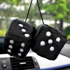 Plush Dice Craps JDM Rear View Mirror Car Pendant Charms Ornaments Hanging Decor