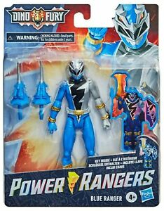 Power Rangers DINO FURY Blue Ranger Action Figure KEY UNLOCKS SOUNDS Read Inside