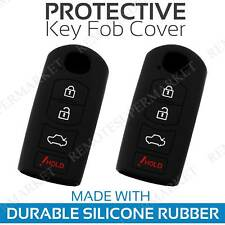 2 Key Fob Cover for 2014 Mazda Speed 3 Remote Case Rubber Skin Jacket