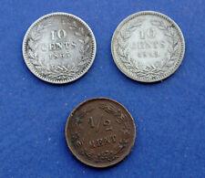 PAYS BAS lots de 3 monnaies a découvrir !!