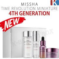 MISSHA Time Revolution Special 4 items Set, Essence + Serum + Ampoule + Cream