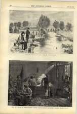 1875 Fishing Match Millstream Tottenham Negro Washerwomen Chinese Laundrymen