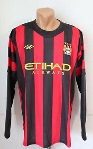 MANCHESTER CITY 2011/2012 AWAY FOOTBALL SHIRT JERSEY TOP LONG SLEEVE UMBRO XL 48