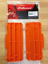POLISPORT RADIATOR LOUVRES RAD GUARDS KTM XC XC-F 08-15 ORANGE MX ENDURO