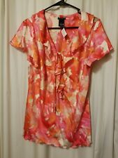 NEW DIRECTIONS - Blouse MultiColor Modern Print Size L    B19/