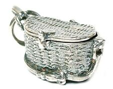 Cesta De Pesca Vintage apertura de plata encanto