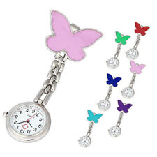 Nurse Casual Clip-on Fob Brooch Butterfly Watch Pendant Hanging Pocket Watch New