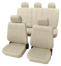 Beige Car Seat Covers with Leather Look-Mitsubishi LANCER Saloon 2003 Onwards