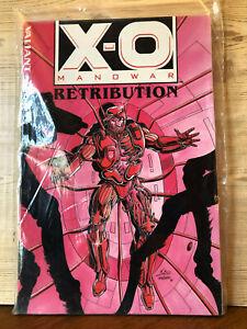 X-O Manowar Retribution & Database Trade Paperback 1993 Factory Sealed Valiant
