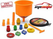 Spill-Proof Radiator Coolant Funnel Kit Filling Car EPAuto Tool Fluid Fill