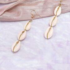 Jewelry Gift Conch Long Chain Cowrie Drop Earrings Drop Dangle Stud Earrings
