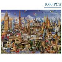 1000 Pieces Jigsaw Puzzles World Architecture For Adults Game Artwork Kids H4F3