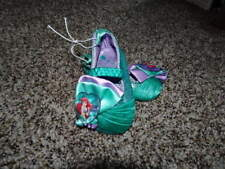 NEW THE DISNEY STORE 0-6 THE LITTLE MERMAID ARIEL SHOES COSTUME
