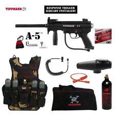 Tippmann A-5 Response Trigger LT Tactical Vest Paintball Gun Package
