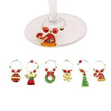New! Christmas XMAS Party Glass Wine Glass Charms Table Decor Ornaments Kits JJ