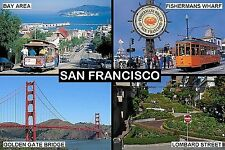 SOUVENIR FRIDGE MAGNET of SAN FRANCISCO CALIFORNIA USA