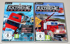 2 PC SPIELE BUNDLE - 18 WHEELS OF STEEL - EXTREME TRUCKER 1 & 2 - TRUCK RACING