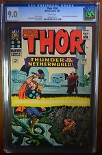 Thor #130 CGC 9.0 White pages Hercules and Pluto apperance,  Marvel 7/66