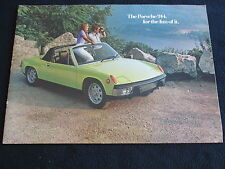 1973 Porsche Big 914 Brochure 914 1.7 & 914S S 2.0 VW-Porsche Large US Catalog