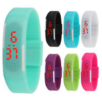 Multifunction LED Sport Electronic Digital Wrist Watch For Child Boy Girl KidsTS
