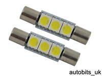 2X 30mm 31mm 3 SMD LED NUMBER PLATE INTERIOR DOME LIGHT FESTOON BULB 12v WHITE