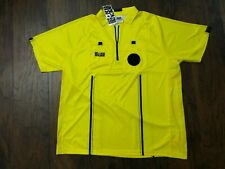 NEW Old Stock REF GEAR Referee S/S Jersey Polo Shirt Yellow NWT Adult XL
