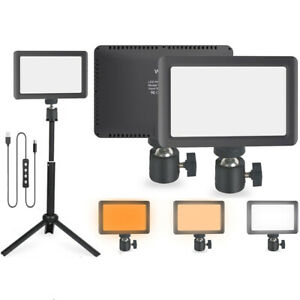 Dimmable Camera LED Video Light Panel + Bracket Tripod for Photography Lighting